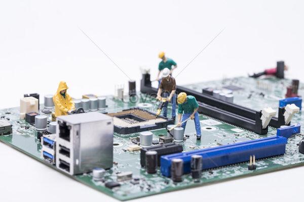 Elementos y componentes para el montaje y ensamblado de equipos eléctricos y electrónicos